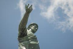 Estátua de bronze na pátina Pontos de Duke de Richelieu com sua mão fotos de stock