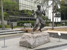Estátua de Bruce Lee imagem de stock royalty free