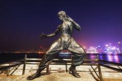Estátua de Bruce Lee em Hong Kong Avenue das estrelas Fotografia de Stock Royalty Free