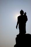 Estátua de buddha da silhueta Fotografia de Stock Royalty Free