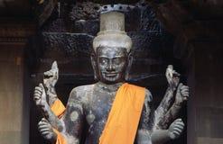 Estátua de Buddha dentro de Angkor Wat/Cambodia Fotografia de Stock