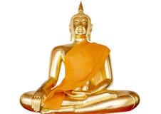 Estátua de Buddha isolada Fotos de Stock Royalty Free