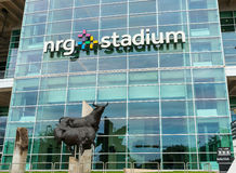 Estátua de Bull fora do estádio de NRG, Houston Fotos de Stock Royalty Free