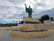 Estátua de C Goncalo de Lagos em Lagos Portugal Fotos de Stock