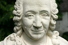 Estátua de Carolus Linnaeus Fotografia de Stock