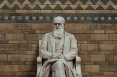 Estátua de Charles Darwin Fotos de Stock Royalty Free