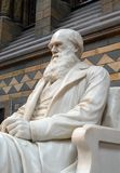 Estátua de Charles Darwin, museu da história natural, Londres fotografia de stock