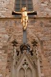 Estátua de christ do ouro da catedral, Brno imagem de stock