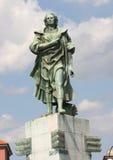 A estátua de Christopher Columbus imagem de stock