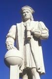 Estátua de Christopher Columbus, para o oeste, CT imagem de stock royalty free