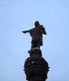 Estátua de Columbo em Barcelona Imagem de Stock