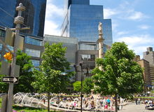 Estátua de Columbo em Columbus Circle, New York City Imagem de Stock Royalty Free