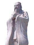 Estátua de Confucius isolada no fundo branco Fotografia de Stock Royalty Free
