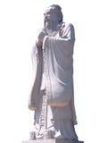 Estátua de Confucius isolada no fundo branco Fotografia de Stock