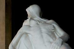 Estátua de Cristo com piedade do madonna Imagens de Stock