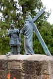 Estátua de Cristo que leva a cruz Imagem de Stock