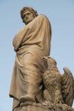 Estátua de Dante Foto de Stock