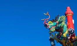 Estátua de Dragron Fotos de Stock Royalty Free
