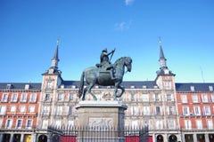 Estátua de Felipe III fotos de stock royalty free