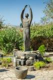 Estátua de Francisco de Assis em Capernaum Fotografia de Stock