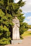 Estátua de Francysk Skaryna em um parque, Minsk Fotos de Stock