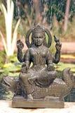 Estátua de Ganga com fonte Foto de Stock Royalty Free