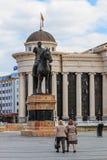 Estátua de Goce Delchev, Skopje Fotos de Stock