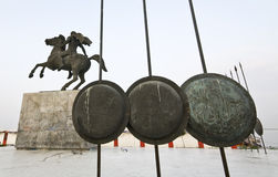 Estátua de grande Alexander em Greece Imagem de Stock