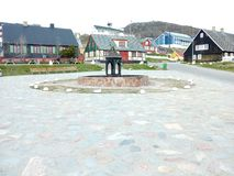 Estátua de Gronelândia Qaqortoq Fotografia de Stock
