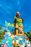 A estátua de Guan Yu em Phuket, Tailândia Fotos de Stock