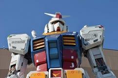 Estátua de Gundam em Odaiba, Japão Fotos de Stock Royalty Free