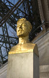 Estátua de Gustave Eiffel, Paris Foto de Stock