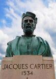 Estátua de Jacques Cartier Foto de Stock