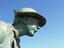 Estátua de Jacques Tati na praia de Monsieur Hulot Fotos de Stock Royalty Free