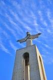 Estátua de Jesus Christ em Lisboa imagem de stock royalty free