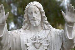Estátua de Jesus Christ em uma missão em San Diego imagens de stock