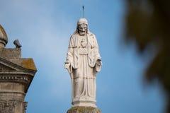 Estátua de Jesus Christ na igreja Católica em Portugal fotos de stock