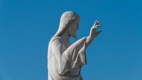 Estátua de Jesus Christ na igreja de Notre Dame de la Garde, Marte Foto de Stock Royalty Free