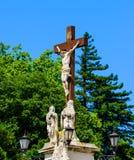 Estátua de Jesus Christ, palácio do papa de Avignon fotografia de stock