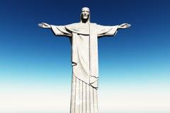 Estátua de Jesus em Rio de Janeiro Brasil Corcovado Fotos de Stock Royalty Free