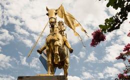 Estátua de Joana do arco a cavalo em Nova Orleães, Louisiana fotografia de stock