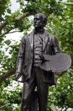 Estátua de John Everett Millais, Londres foto de stock