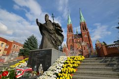 Estátua de John Paul II Rybnik, Polônia imagens de stock royalty free