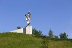 Estátua de Juraj Janosik, herói histórico legendário, Terchova, Eslováquia imagem de stock royalty free