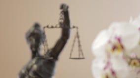 Estátua de justiça vídeos de arquivo