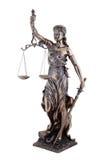 Estátua de justiça, deusa grega mitológica de Themis, isolada Imagens de Stock