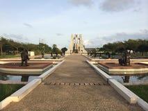 Estátua de Kwame Nkrumah Foto de Stock