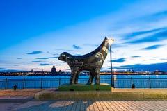 Estátua de Lambanana em Liverpool imagens de stock royalty free