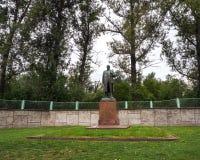 Estátua de Lenin dentro no parque Rússia foto de stock royalty free