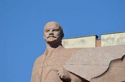 Estátua de Lenin, Tiraspol, Moldova/Transnistria imagens de stock